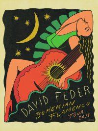 Dave Feder Bohemian Flamenco Tour 2018 Poster 18x24 copy